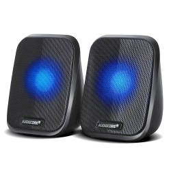 Audiocore AC835 2.0 Stereo Speakers With LED Backlighting For PC Laptop Smartphone