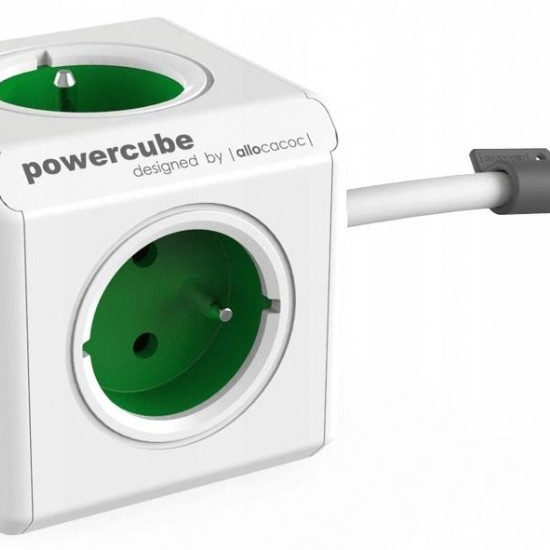 Allocacoc 2402GN/FREUPC power extension 1.5 m 4 AC outlet(s) Indoor Green,White