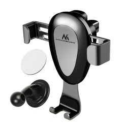 Maclean car phone holder, universal, for the ventilation grille, gravity, max. center distance 90mm, MC-324