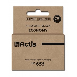 Actis black ink cartridge for HP (HP 655 CZ109AE replacement)